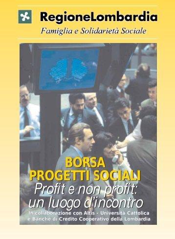 Borsa Progetti Sociali - Lombardia Mobile - Regione Lombardia