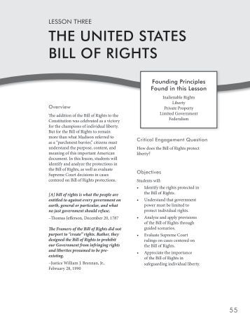 a rhetorical analysis of the us bill of rights An explanation of the constitution, article by article, amendment by amendment.