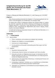 Aufgabenbeschreibung Vorstand - Ruderclub Meschede