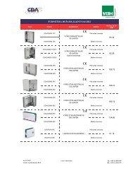 CDA dušų sistemos