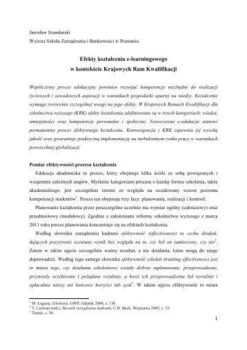 e-edukacja 9 J. Szandurski pm autor last - Rozwój e-edukacji w ...