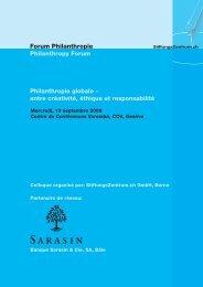 Forum Philanthropie Philanthropy Forum ... - ICVolunteers