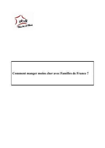 Comment manger moins cher avec Familles de France