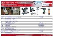 Elektrogeräte-Werkzeuge (2 Seiten) - Mietpark-Geislingen