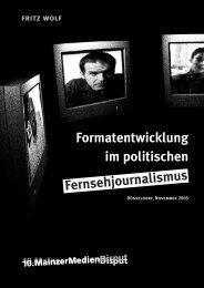 Formatentwicklung im politischen Fernsehjournalismus