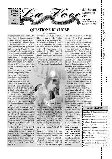 N° 4, Giugno 1998 - Questione di Cuore - Parrocchia-sacrocuore ...