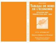 TABLEAU DE BORD DE L'ÉCONOMIE - Site En Construction