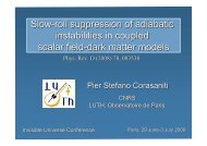 Slow-roll suppression of adiabatic instabilities in ... - Univers Invisible