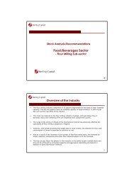 Flour Milling Sub-sector - Sterling Capital Markets Ltd