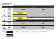 Sommerferien-Trainingsplan. - Berliner SC