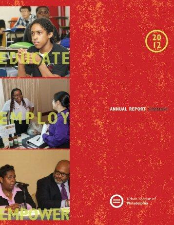 2012 ULP Annual Report - The Urban League of Philadelphia