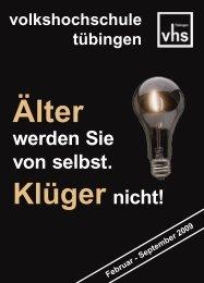 Frühjahrsprogramm 2009 - Deutsches Institut für Erwachsenenbildung