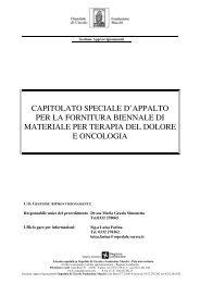 capitolato speciale d'appalto per la fornitura biennale di materiale ...