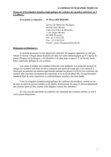 Pour une lecture en format pdf : cliquez-ici - Institut Jules Bordet ...