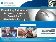 Examining Autonomic Arousal in a Web- Based CME Simulation ...