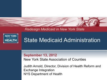 Medicaid Administrative Takeover 2 - New York State Association of ...
