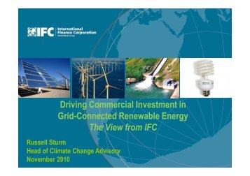 Driving Commercial Investment In Grid-Connected Renewable Energy