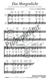 Probepartitur - Musikverlag Robert Carl