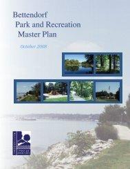 Bettendorf Park & Recreation Master Plan ... - City of Bettendorf