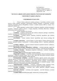 PATVIRTINTA Vilniaus Gabijos gimnazijos direktoriaus 2011 m ...