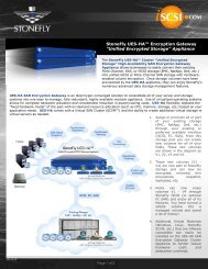 StoneFly UES-HA Unified Encrypted Storage Gateway Appliance ...