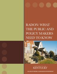RADON: WhAt the Public AND POlicy MAkeRs NeeD tO kNOW