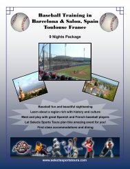 Baseball Training in Barcelona & Salou, Spain ... - Selects Sports