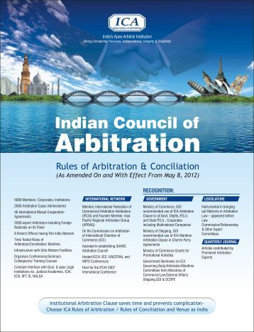 Rules of Arbitration - Indian Council of Arbitration