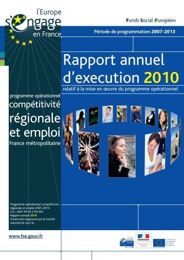 Le rapport annuel d'exécution 2010 - Fonds Social Européen en ...