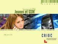 Jeunes et GSM - Crioc