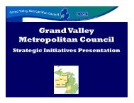 Read the Full Strategic Plan here - Grand Valley Metropolitan Council