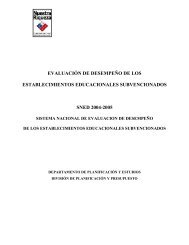 EVALUACION DE DESEMPEÑO - Comunidad Escolar - Ministerio ...