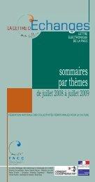 Sommaires 2008 2009.indd - FNCC