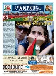 adeus Mundial - A Voz de Portugal