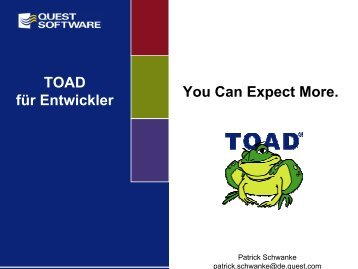 TOAD fuer Entwickler - Quest Software