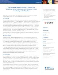 Barry University Adapts Quickly to Changes Using ... - Quest Software