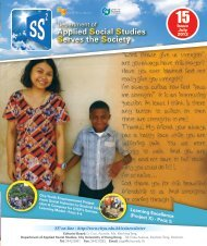 Learning Excellence - Department of Applied Social Studies