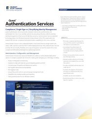 Authentication Services - Quest Software