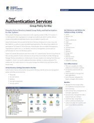 Authentication Services Group Policy for Mac - Quest Software