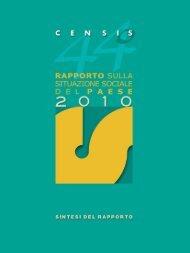44° Rapporto sulla situazione sociale del Paese 2010 - Adapt