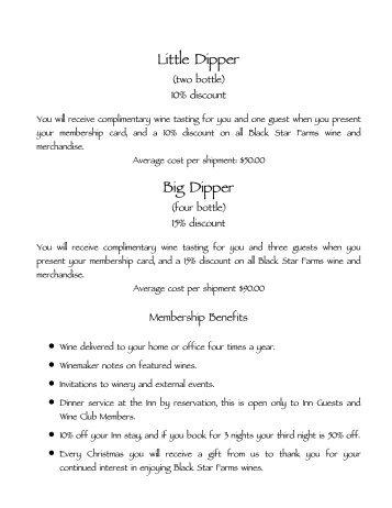 Little Dipper Big Dipper - Black Star Farms