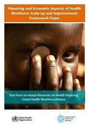 Financing and Economic Aspects of Health Workforce Scale-up and ...