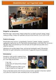 Skolebiblioteket ved Fagerlund skole - Ringsaker kommune