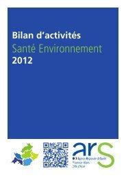 Bilan d'activités santé environnement 2012 - ARS Paca