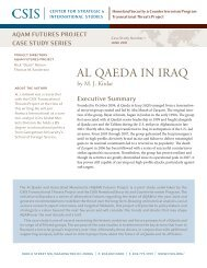 Al Qaeda in Iraq - Center for Strategic and International Studies