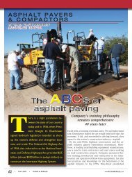ASPHALT PAVERS & COMPACTORS - Roads & Bridges