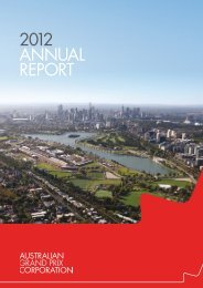 2012 AnnuAl RepoRt - Australian Grand Prix