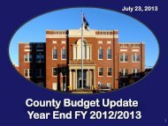 2012/2013 Budget Year-End Summary - Hardin County Government