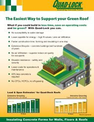Quad-Deck ICF - Green Roofs - Quad-Lock Building Systems
