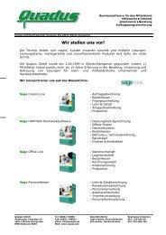 Wir stellen uns vor! - Quadus GmbH